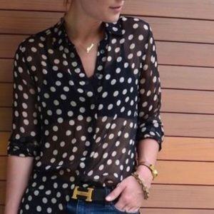 Equipment Femme Sheer blouse Small
